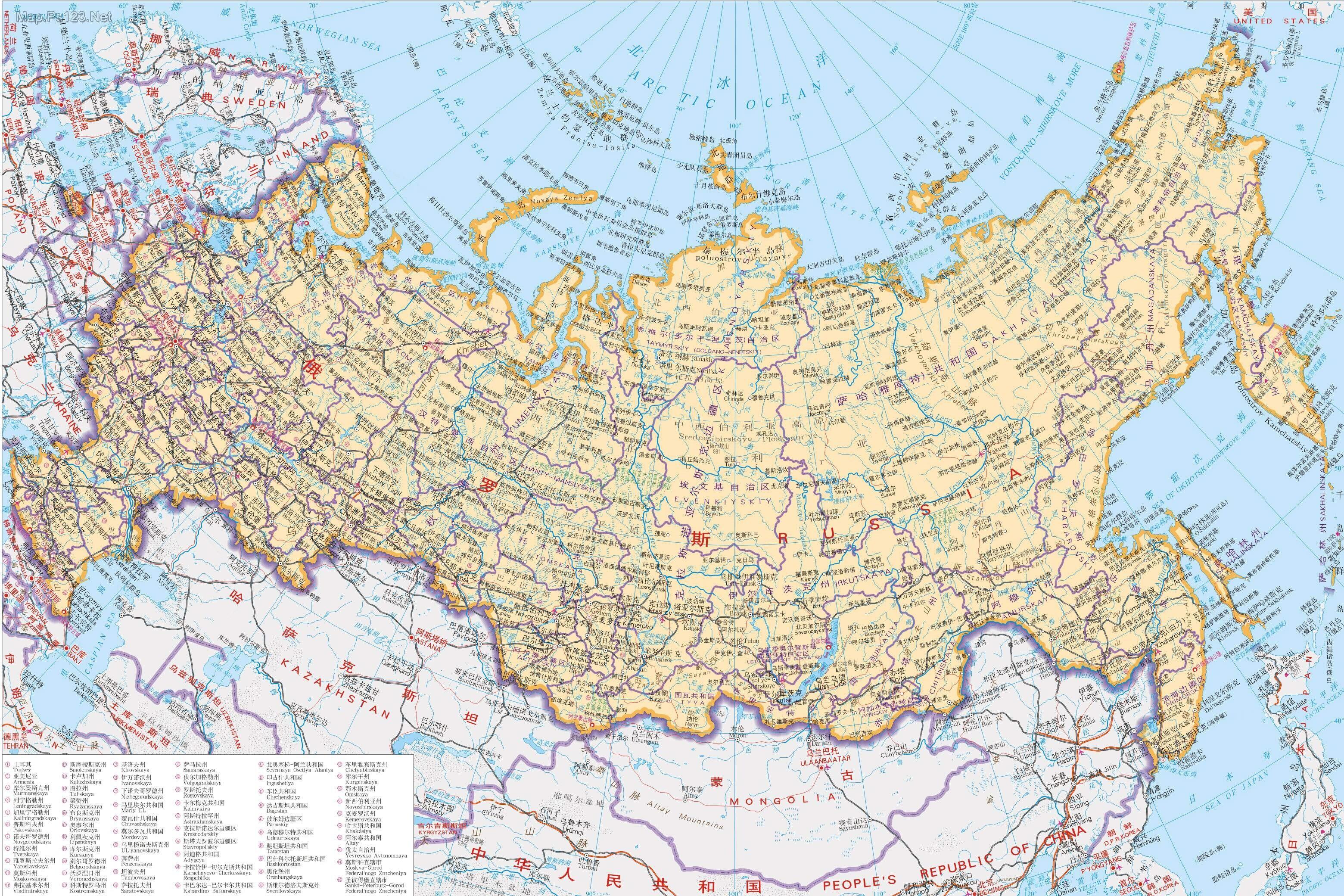远东地区地图_俄罗斯远东地区人口